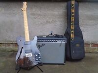 Fender Modern Player Thinline Telecaster guitar & Fender Princeton 65 DSP amp