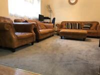 Sofa. Dfs. Genuine leather