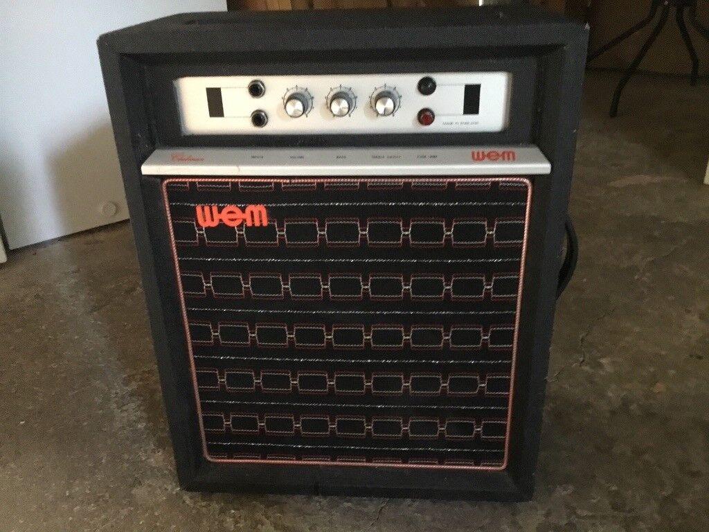 wem clubman amplifier 1973