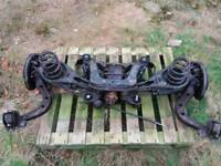 BMW e36 3 series, complete rear axle assembly