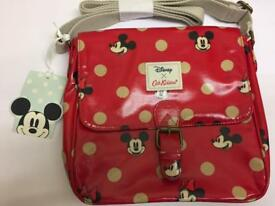 Cath Kidston rare Disney Mickey and Minnie Mouse satchel bag BNWT