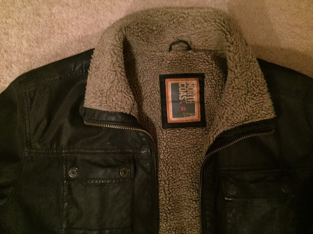 "M&S XL Brown Suede Leather ""Flying"" Jacket"