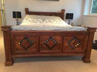 Jali Sheesham Indian Solid Wooden King Size Bed Frame