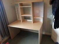 Ikea Desk and storage shelf