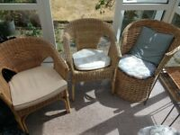 Wicker chairs X 3 £40