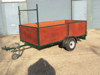 Car Trailer, 8 x 4 foot, 2 foot deep, alluminium bed, very strong, just reconditioned.