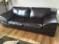 Brown Leather Sofas in Great Condition