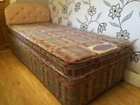 SINGLE BED BY AIR SPRUNG BEDS WITH HEADBOARD IN GOOD CONDITION