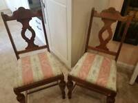 Pair of solid wood chairs