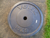 York 10kg weight plates