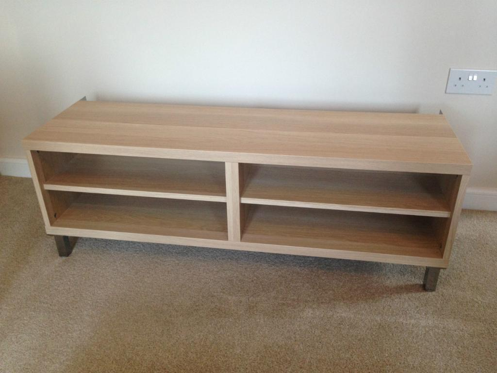 Ikea Besta TV bench 120cm white stained oak with 4 metal  : 86 from www.gumtree.com size 1024 x 768 jpeg 69kB