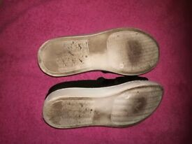 Well worn women's shoes
