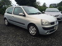 SEPT 2004 RENAULT CLIO 1.5 DCI ROAD TAX £30.00 JUST TAKEN IN AS PART X CHEAP RUNABOUT