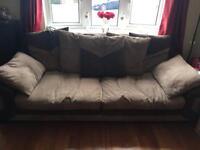 Brown sofa.
