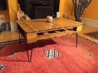 Rustic Wooden Pallet Coffee Table - Reclaimed/Upcycled
