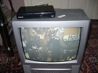 PORTABLE TV/VIDEO AND FREEVIEW BOX.