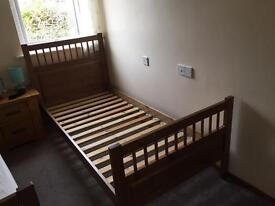 Single pine wood bed
