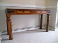 Coffee table and Console table.