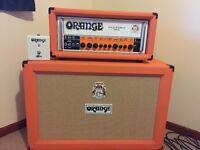 Orange rockerverb MKIII 50 watt head & orange PPC 212 closed back cab.