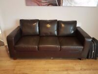 Matt 3 seater and 2 seater brown suite