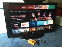 SAMSUNG 52 INCH SMART INTERNET TV WITH DIGITAL FREEVIEW BUILT IN.