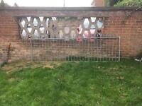 2x Galvanised Spear Top Fence Panels