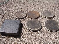 6 assorted manhole covers (price is for one)