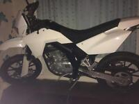 LOOK!!! SFM ZZ 125cc SUPERMOTO WHITE