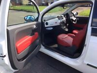 Fiat 500 1.4 16V Sport DSG/Auto, 21,000 miles, 2009 - red leather seats