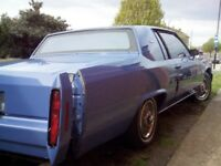 cadillac coupe deville 1982.not mot'd gearbox fault..must sell as ill health forces me to sell......