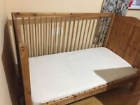 Cot Bed Wood Pine Kid New Born to 5 years old