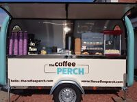 Mobile Coffee & Cake Pod, available for hire for all outdoor events & parties