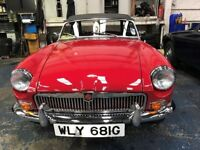 Fully refurbished 1968 MGB Roadster, with very low mileage.
