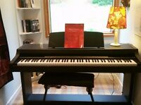 Yamaha Calvinova CLP 311 Digital Piano plus Piano Stool, beginner music