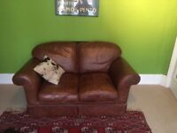 Laura Ashley Antique Leather Winchester Love Seat (Cash on collection only)