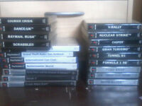 ps2 slim console 1 controller and various games both ps2 and ps1