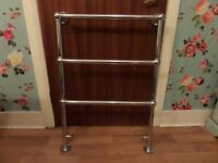 Traditional chrome Victorian towel rail