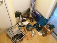 Large lot of Power and hand tools, wood products, accessories and books.