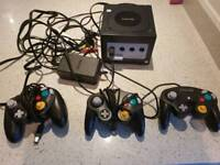 Game cube plus 3 controllers and memory card