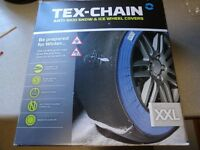 Tex Chain anti skid snow and ice wheel covers XXL (similar to snow chains)