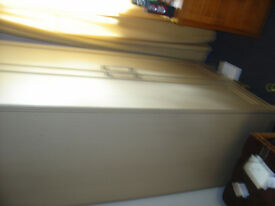 2xLarge double doored wardrobes in light pine colour