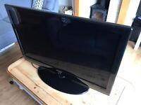"Samsung 40"" HD television, surround sound system and BlueRay player"