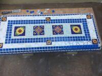 Handmade mosaic stone bench