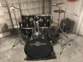 5 Piece Rock Drum set by Gear4Music