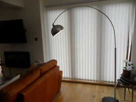 MINISUN CURVA 200CM ARCHED FLOOR LAMP RRP£199.99 (ASSEMBLED 2 WEEKS AGO AND NEVER USED