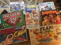 Vintage Board Games x7 includes rare Ker Plunk