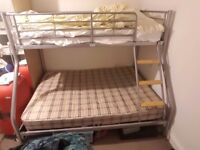 Double Bed Bunk Bed For £50