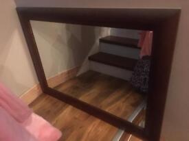 Large Modern mahogany mirror