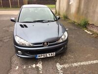 PEUGEOT 206 VERVE 5 DOOR -2005; CHEAP CAR - LOW MILAGE & SERVICE HISTORY