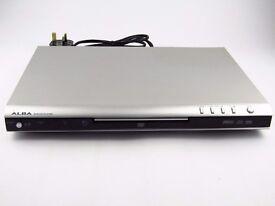 ** BARGAIN ** New Silver Slim ALBA DVD/CD Player + Alba Remote & Power Lead - Fully Working Order
